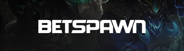 Betspawn logo with a game background